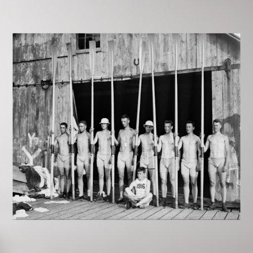 Yale Freshman Crew: 1916 Print