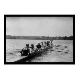 Yale Rowing Racing Shell 1915 Poster