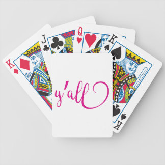 y'all bicycle playing cards