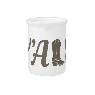 Yall Cowgirl Boots Beverage Pitcher