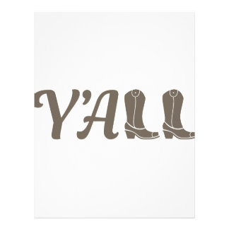 Yall Cowgirl Boots Letterhead