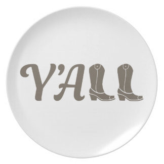 Yall Cowgirl Boots Plate