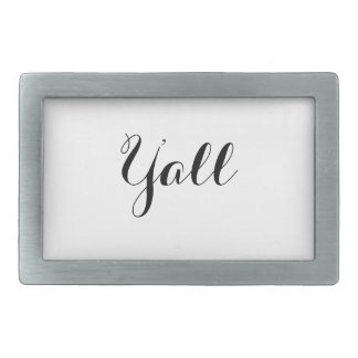 Y'all Typography Belt Buckles