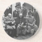 Yalta Conference Roosevelt Stalin Churchill 1945 Coaster