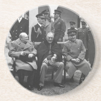 Yalta Conference Roosevelt Stalin Churchill 1945 Coaster