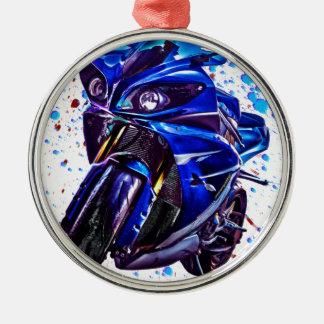 Yamaha YZF R1 Art Print Metal Ornament