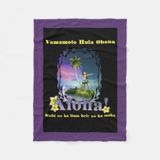 """Yamamoto Hula Ohana Fleece Blanket 30""""x40"""" 5"""