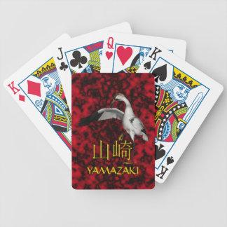 Yamazaki Monogram Crane Bicycle Playing Cards