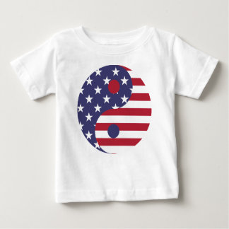 Yang Yin America Flag Abstract Art Asian Balance Baby T-Shirt