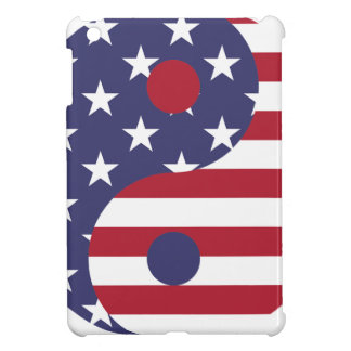 Yang Yin America Flag Abstract Art Asian Balance iPad Mini Case