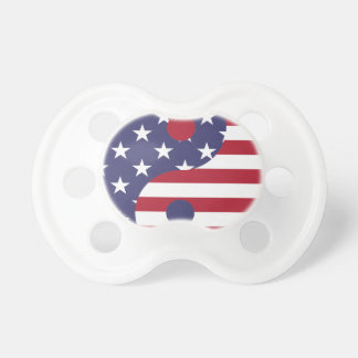Yang Yin America Flag Abstract Art Asian Balance Pacifier