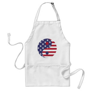 Yang Yin America Flag Abstract Art Asian Balance Standard Apron
