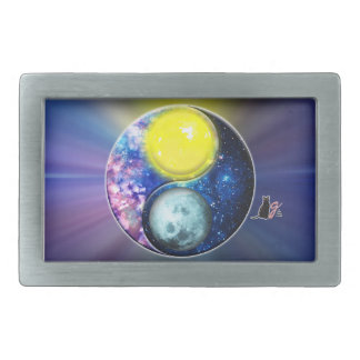 Yang-Yin / Sun-Moon Oblong Belt Buckle
