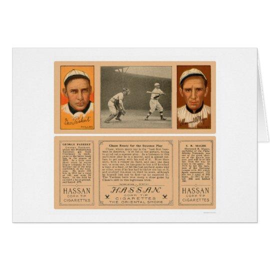 Yankee At Bat Phillies Baseball 1912 Card