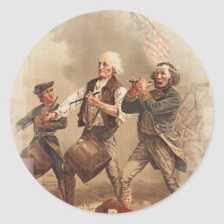Yankee Doodle Classic Round Sticker