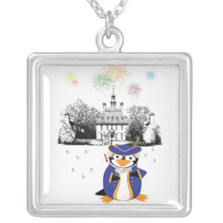 Yankee Doodle Penguin Necklace
