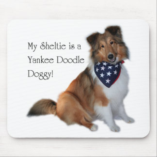 Yankee Doodle Sheltie Mouspad Mouse Pad