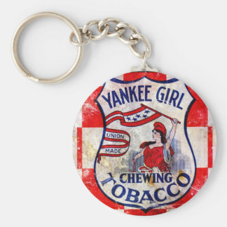 Yankee Girl Chewing Tobacco Basic Round Button Keychain