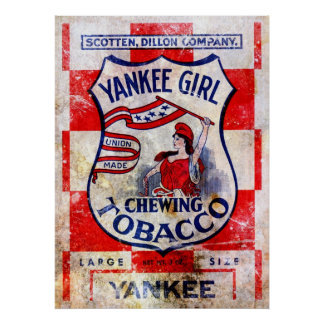 Yankee Girl Chewing Tobacco Print