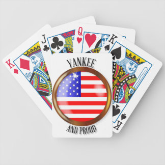 Yankee Proud Flag Button Bicycle Playing Cards
