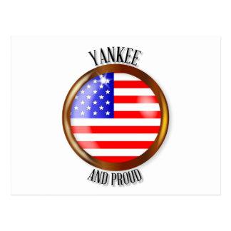 Yankee Proud Flag Button Postcard