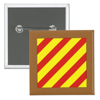 Yankee (Y) Signal Flag 2 Inch Square Button