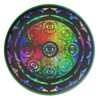 Yantra Eyes Mandala Plate