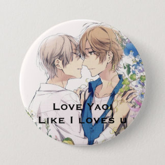 Yaoi cute Botton 3 Inch Round Button
