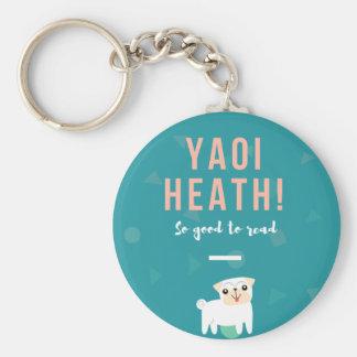 Yaoi Heath Button Keychain