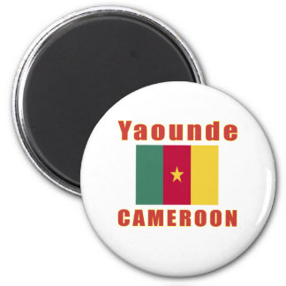 Yaounde Cameroon capital designs 2 Inch Round Magnet