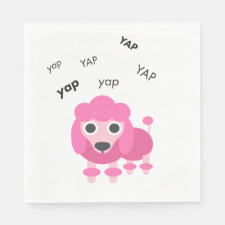 Yap Poodle Cute Emoji Paper Napkin