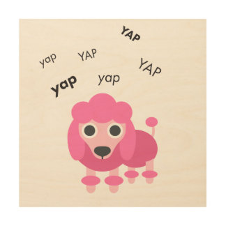 Yap Poodle Cute Emoji Wood Prints
