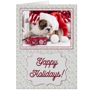 Yappy Holiday Bulldog Card