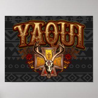 Yaqui Deer Skull Poster Art Print