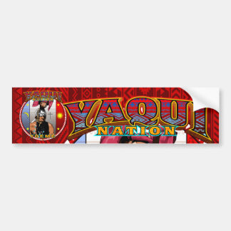 yaqui nation deerdancer bumber sticker red bumper sticker