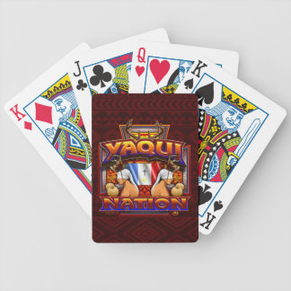 Yaqui Nation Flag Deer Dancer design Bicycle Playing Cards