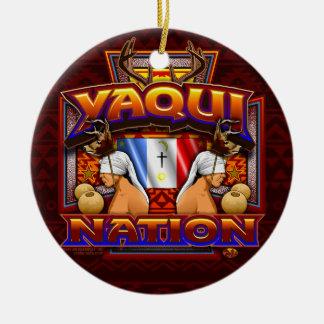 Yaqui Nation Flag Deer Dancer design Ceramic Ornament