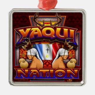 Yaqui Nation Flag Deer Dancer design Metal Ornament