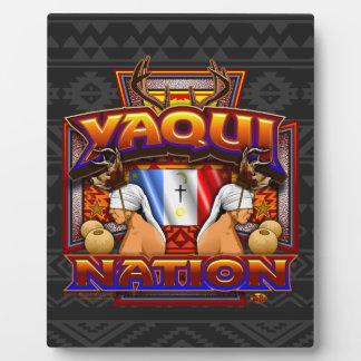 Yaqui Nation Flag Deer Dancer design Plaque