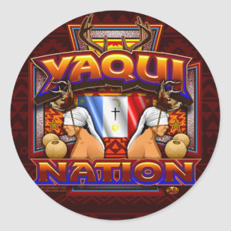 Yaqui Nation Flag Deer Dancer design sticker