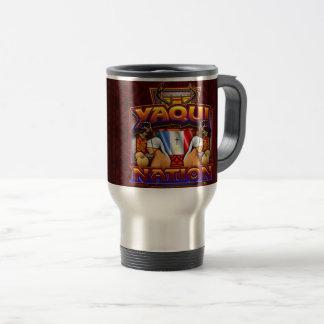 Yaqui Nation Flag Deer Dancer design Travel Mug