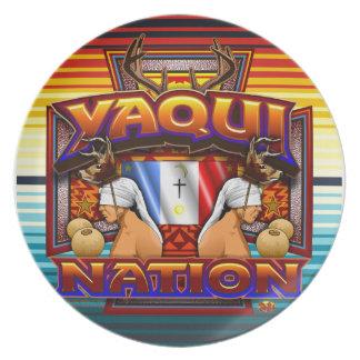 Yaqui Nation Flag Deer Dancer plate design