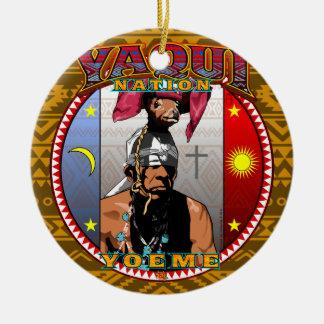 Yaqui Yoeme Deer Dancer design Ceramic Ornament