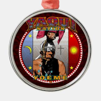 Yaqui Yoeme Deer Dancer design Metal Ornament