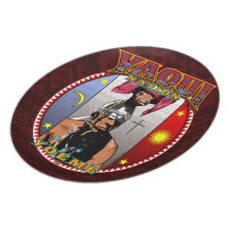 Yaqui Yoeme Deer Dancer design Party Plates