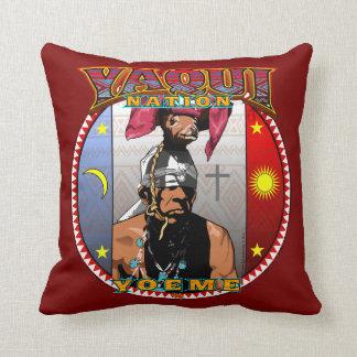 Yaqui Yoeme Deer Dancer throw pillow