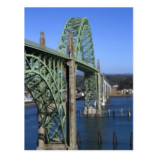 Yaquina Bay Bridge spanning the Yaquina Bay Postcard