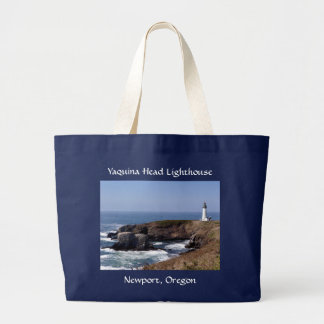 Yaquina Head Lighthouse Oregon Jumbo  Tote Bag