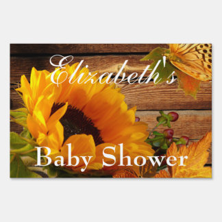 Yard Sign, Baby Shower Rustic Country Sunflower Sign