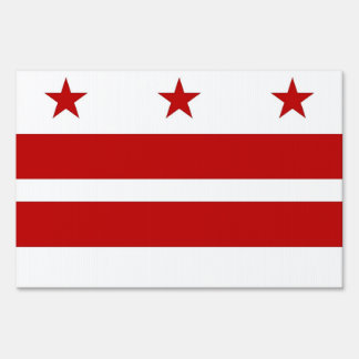 Yard Sign with flag of Washington DC, USA